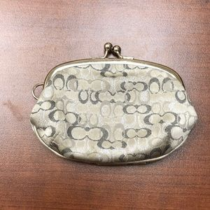 Gently used Coach change purse